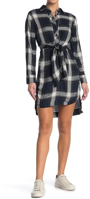 Tommy Hilfiger Plaid Tie Front Shirt Dress