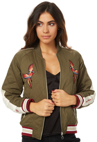 Stussy Doves Cry Bomber Green
