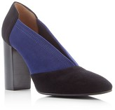 Aquatalia Valeria Weatherproof Color Block High Heel Pumps
