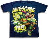 Freeze Navy TMNT 'Awesome Ends with Me' Tee - Boys