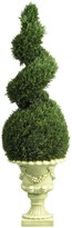 Nearly Natural Green 4ft. Cedar Spiral with Decorative Vase