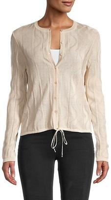 M Missoni Button-Front Cotton-Blend Cardigan