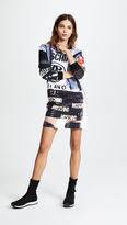 Moschino Long Sleeve Printed Dress