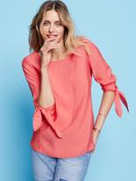 Jeanswest Briella Tie Sleeve Top-Cayenne-8