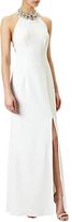 Adrianna Papell Embellished Halter Neck Evening Dress