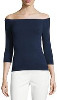 Milly Off-the-Neckline Pullover
