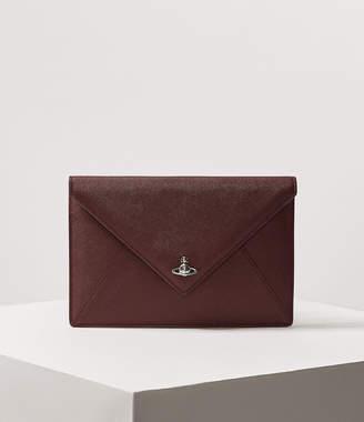 Vivienne Westwood Victoria Envelope Clutch Burgundy