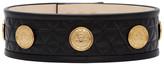 Balmain Black Quilted Gold Coins Belt