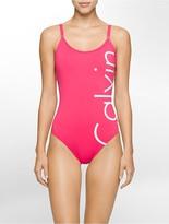 Calvin Klein Logo One-Piece Swimsuit