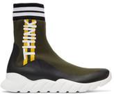 Fendi Multicolor Sock think High-top Sneakers