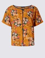 Marks and Spencer PETITE Floral Print Short Sleeve Shell Top