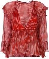 IRO double layered print blouse