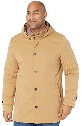 Johnny Bigg Big Tall Reeves Water Resistant Trench (Camel) Men's Coat