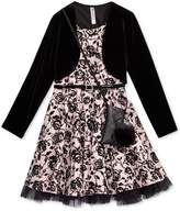 Beautees 2-Pc. Velvet Jacket and Dress Set With Coordinating Purse, Big Girls (7-16)