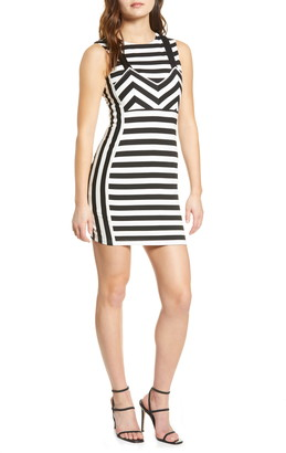 ENGLISH FACTORY Stripe Body-Con Dress
