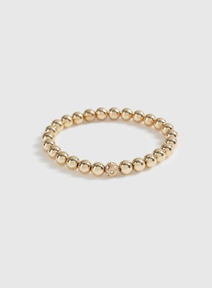 Evans Gold Bead Stretch Wristwear