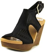 Dr. Scholl's Meaning Open Toe Canvas Wedge Sandal.