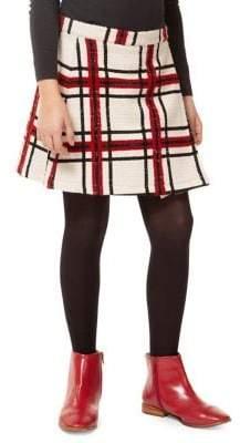 Dex Girl's Plaid Faux-Wrap Skirt