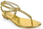 Michael Kors Michael by Jessie - Glitter Flat Thong Sandal in Gold