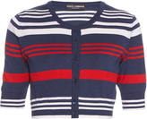 Dolce & Gabbana Cashmere and silk-blend striped cardigan