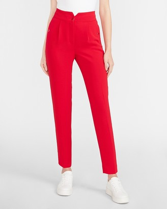 Express Super High Waisted Notch Front Ankle Pant