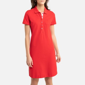 Anne Weyburn Mid-Length T-Shirt Shift Dress in Cotton Pique