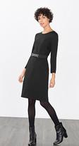 Esprit OUTLET lace-trimmed textured stretch dress