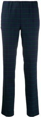 P.A.R.O.S.H. slim tartan trousers