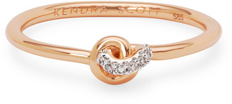 Kendra Scott Love Knot 14K Gold Band Ring in White Diamond