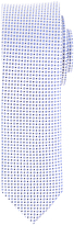Daniel Hechter Patterned Silk Tie, White/blue