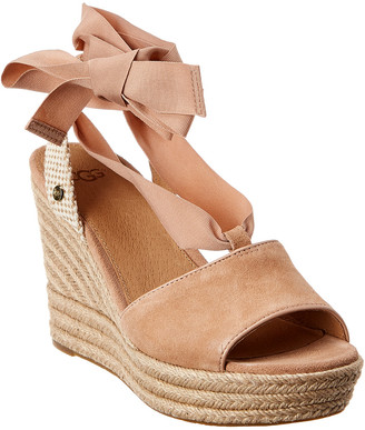 UGG Women's Shiloh Suede Wedge Sandal