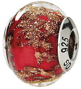 Murano Prerogatives Sterling Red/Gold Italian Glass Bead