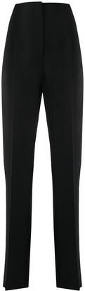 Giorgio Armani Silk High-Rise Tailored Trousers