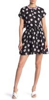 Love Moschino Baseball Print Henley Fit & Flare Dress