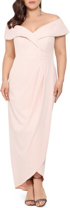 Xscape Evenings Off the Shoulder Surplice Gown