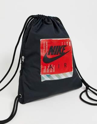 Nike black 90s drawstring bag