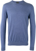 Laneus ribbed trim sweatshirt - men - Silk/Cashmere - 48