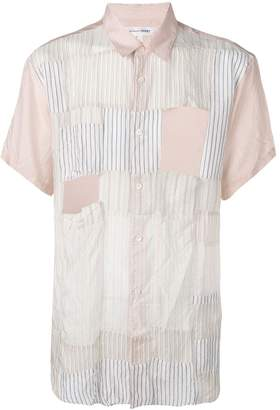 Comme des Garcons patchwork short-sleeved shirt