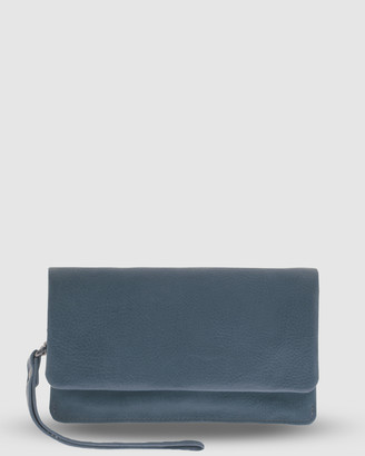 Cobb & Co - Women's Navy Wallets - Albury Soft Leather Fold Over Wallet - Size One Size at The Iconic