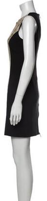 Blumarine Crew Neck Mini Dress Black