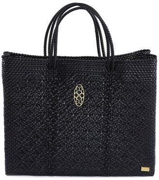 Lolas Bag Black Book Tote With Clutch