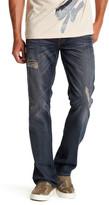 True Religion Dark Wash Distressed Straight Leg Flap Pocket Jean