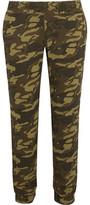 Monrow Camouflage-Print Crepe Track Pants