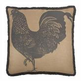 Thomas Paul Jute Prized Poultry Rooster 26 Pillow