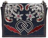 DSQUARED2 Dd Jeweled Denim Shoulder Bag