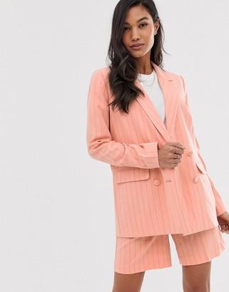 Ichi pinstripe suit jacket-Pink