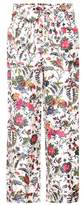 Tory Burch Floral-printed silk trousers