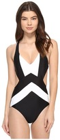 MICHAEL Michael Kors Regatta Cross Back Monokini One-Piece Women's Swimsuits One Piece