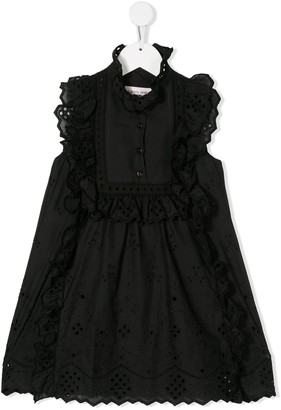 Alberta Ferretti Kids Ruffle Trim Embroidered Dress