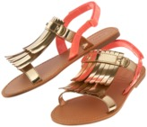 Crazy 8 Metallic Fringe Sandals
